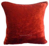 LARGE SIZE SOFT FEEL VELVET PLUSH STYLISH DESIGNER CUSHION COVER BURGUNDY WINE COLOUR